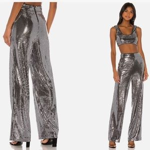 🌟Silver Sequined Temple Pants S free ship